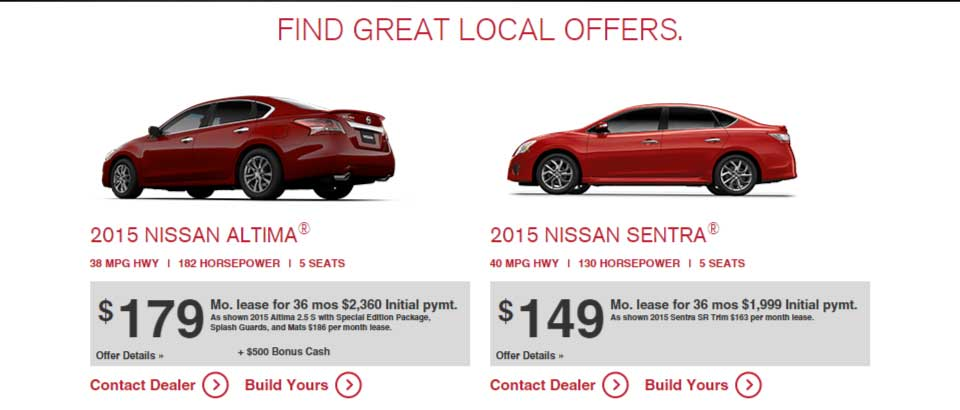 nissan bottom line sales event 2015
